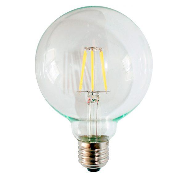 Ampolletas filamento LED, Ampolleta globo,ampolleta LED, ampolleta globo, Lamparas Insular -4W